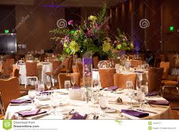 Tables At Wedding Reception Stock Image Image 16123177
