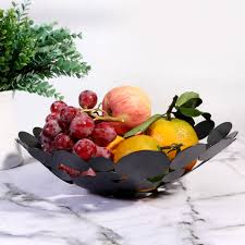 Maybe you would like to learn more about one of these? Lovely Modern Circle Metal Fruit Bowl Center Piece Black With Gold Brush Walmart Com Walmart Com