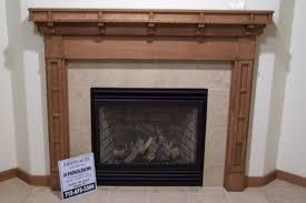 custom made craftsman style fireplace surround