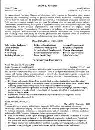 Resume Executive Summaries Executive Summary Resume Example Barraques Org