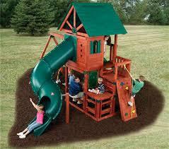 swing n slide wooden set kit back outdoor playset kits backyard diy