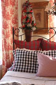 Plaid Bedroom Opulent Cottage Toile Plaid And Gingham Christmas Bedroom