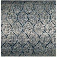 madison navy silver 4 ft x 4 ft square area rug
