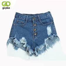 <b>GOPLUS</b> 2017 <b>Summer</b> Women Candy Color Hole <b>Denim Shorts</b> ...