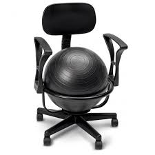 metal ball chair with arms