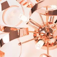 Copper Ribbon Light Iconic Bonbon Copper Ribbon Ceiling Light