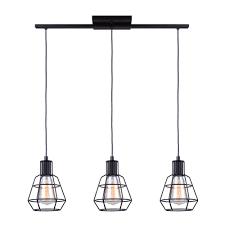 Matte Black Kitchen Pendant Light Canarm Wren 3 Light Matte Black Pendant Industrial Light
