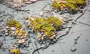 Bvi Navigation Charts 3d Nautical Charts Os Maps And Landscapes Uk Framed