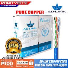 100M <b>CAT6</b> UTP <b>Cable PURE COPPER</b> AD-LINK | Shopee ...