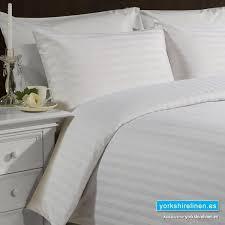 hotel stripe white duvet cover set 540tc yorkshire linen warehouse s l