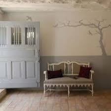 great use of a simple stencil design by painting a solid color up to chair