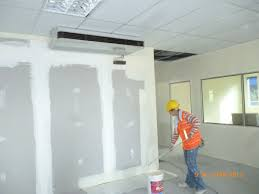 consortium office alstom 1st floor painting of gypsum board in progress