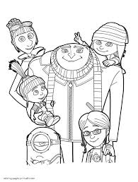 Despicable me 3 coloring pictures for kids