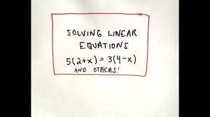 solving linear equations made easy
