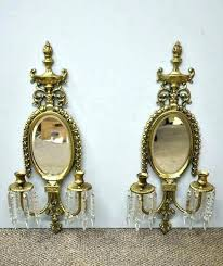 brass wall sconce candle holder mirrored wall sconces candle holder mirror candle sconce set round mirror