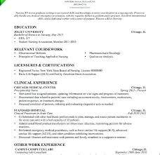New Nurse Resume No Experience Recently Graduated Resume Joefitnessstore Com