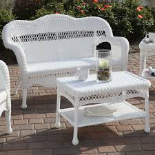 charming inspiration white wicker patio furniture clearance outdoor loveseat all weather shallow couches glider garden sofas