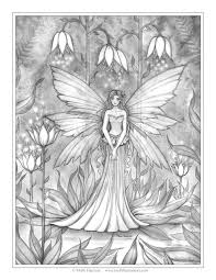 Small Picture Free Mermaid Coloring Page by Molly Harrison Fantasy Art Amethyst