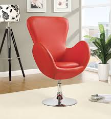 Amazoncom Coaster Home Furnishings 902101 Leisure Swivel Chair Contemporary Red Chair