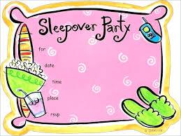 free sleepover invitation templates sleepover invitation ideas panda birthday invitations best of free
