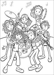 Rock Band Coloring Pages Really Encourage Kleurplaat Groovy Girls