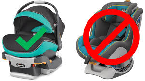 use an infant car seat not a child s car seat
