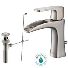 solid brass bathroom faucets. RIVUSS Carrion Single Hole Single-Handle Lead Free Solid Brass Bathroom Faucet In Brushed Nickel Faucets T