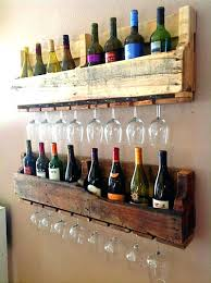 pallet wall wine rack. Wine Rack : Diy Wall Mounted Pallet Rack. Glass Do It Yourself A