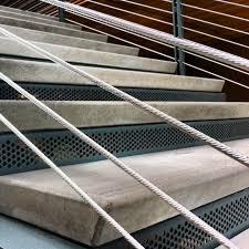 exterior stair treads and nosings. precast stair treads w/ sandblast nosings project: scc- wood construction center architect: exterior and r