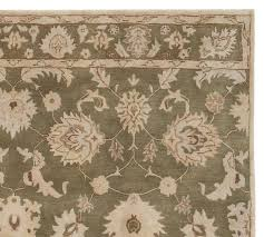 gabrielle persian style rug green pottery barn