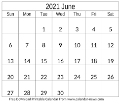 We also have a number of other calendars and planners in web and pdf formats available farther down the page. June 2021 Calendar For Blank And Floral Template Calendar News