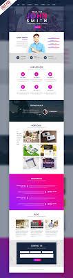 Creative One Page Portfolio Website Template Free Psd