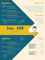 Modern Resume Color Modern Curriculum Vitae Cv Resume Template Design In Blue And