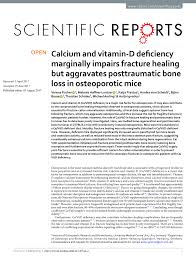 pdf experimental osteoporosis induced by ovariectomy and vitamin d deficiency does not markedly affect fracture healing in rats