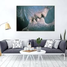bedroom wall art canvas phoenix abstract wall art canvas painting love kiss in living room wall