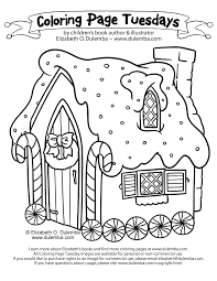 Small Picture dulemba Coloring Page Tuesday Gingerbread House