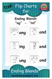 Free Ending Blends Chart Ending Blends Flip Charts Word Family Readers
