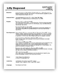 Undergraduate Resume Template Impressive Resumes And Letters Career Services Walton College University