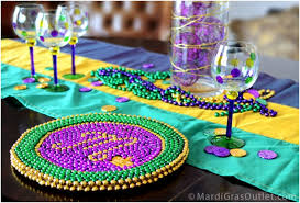 beaded mardi gras charger plate