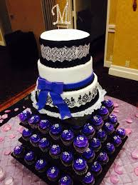 Damask Themed Sweet Sixteen Cake And Cupcakes 2013 Cakes Sweet