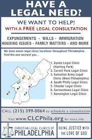 flyers scheduule clinic flyers christian legal clinics of philadelphia
