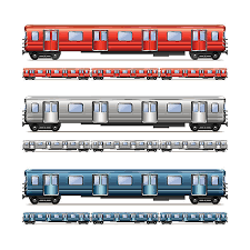 subway train side. Brilliant Side Subway Train Set Isolated On White Vector Art Illustration With Train Side IStock