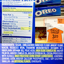information on a bag of oreos nutritional facts