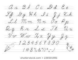 Royalty Free Cursive Alphabet Stock Images Photos Vectors