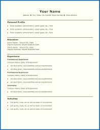 9 Examples Simple Resume Template Australia For Any Positions Best