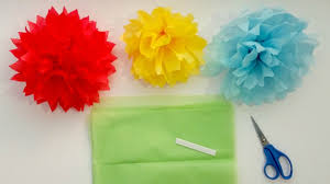 How To Make A Flower Out Of Tissue Paper Step By Step How To Make Tissue Paper Pom Pom Flowers In 4 Easy Steps Youtube