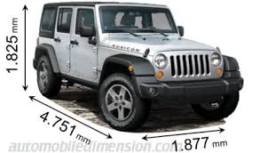 jeep wrangler unlimited length x width x height