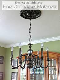 diy brass chandelier makeover