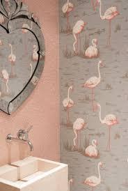 Pronken Met Palmen En Flamingo Behang Op Het Toilet Interior Junkie