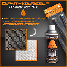 hydro dip kit carbon fiber pack aerosol activator it yourself